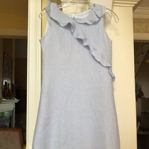 Malley Too 100% linen light blue girls dress